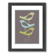 Three Little Birds Framed Graphic Art