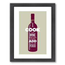 I Cook with Wine Wall Art
