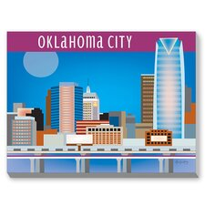 Oklahoma City Graphic Art on Canvas
