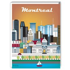 Montreal Graphic Art on Canvas