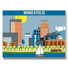 Minneapolis Graphic Art on Canvas