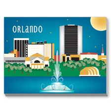 Orlando Graphic Art on Canvas