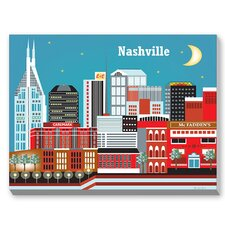 Nashville Graphic Art on Canvas