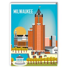 Milwaukee Graphic Art on Canvas