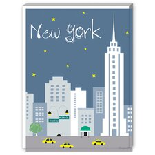 New York City Dusk Graphic Art on Canvas