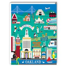 Oakland Graphic Art on Canvas