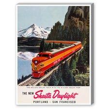 Portland San Francisco Railroad Vintage Advertisement on Canvas