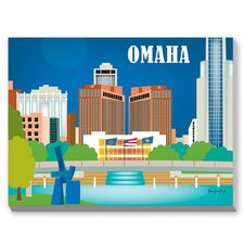 Omaha Graphic Art on Canvas