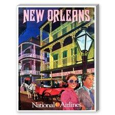 New Orleans National Airways Vintage Advertisement on Canvas