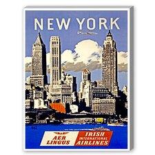 New York Aer Lingus Vintage Advertisement on Canvas