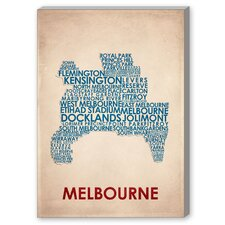 Melbourne Textual Art on Canvas