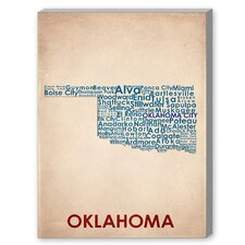 Oklahoma Textual Art on Canvas