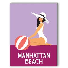 Manhattan Beach Graphic Art on Canvas