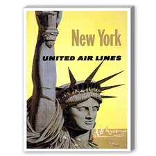 New York Statue of Liberty Graphic Art on Canvas