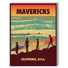 Mavericks Graphic Art on Canvas