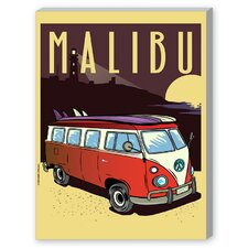 Malibu Graphic Art on Canvas