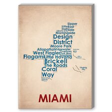 Miami Textual Art on Canvas