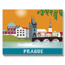 Prague Graphic Art on Canvas