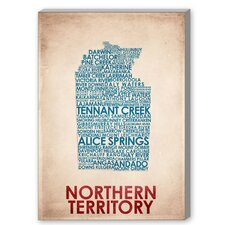 Northern Territory Textual Art on Canvas