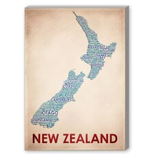New Zealand Textual Art on Canvas
