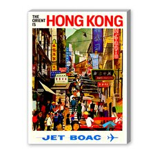 Hong Kong Vintage Advertisement on Canvas