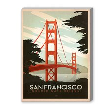Golden Gate Bridge Vintage Advertisement Graphic Art