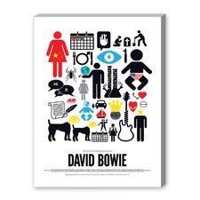 David Bowie Graphic Art on Canvas