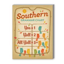 Grammar Chart Graphic Art on Canvas