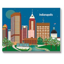 Indianapolis Graphic Art on Canvas