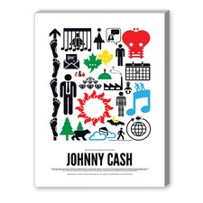 Johnny Cash Graphic Art on Canvas