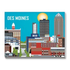 Des Moines Graphic Art on Canvas