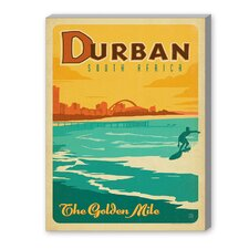 Durban Vintage Advertisement on Canvas