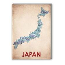 Japan Textual Art on Canvas