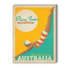Dive into Sunshine Australia Vintage Advertisement on Canvas