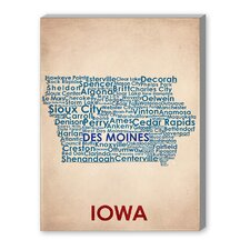 Iowa Wall Art on Canvas