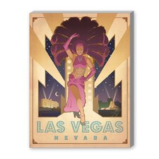 Las Vegas Showgirl Vintage Advertisement on Canvas