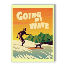 Going My Wave Graphic Art on Canvas