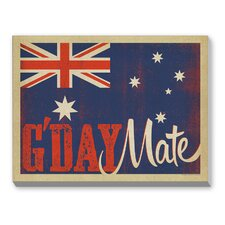 G'Day Mate II Graphic Art on Canvas