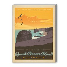 Great Ocean Road Vintage Advertisement on Canvas