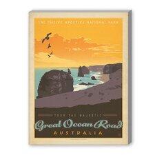 Great Ocean Road Vintage Advertisement on Canvas