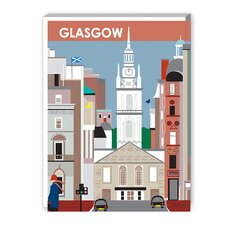 Glasgow Graphic Art on Canvas