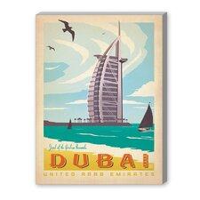 Dubai Vintage Advertisement on Canvas