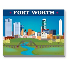 Fort Worth Graphic Art on Canvas