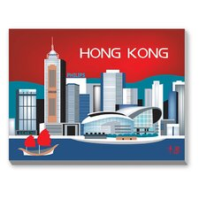 Hong Kong Graphic Art on Canvas