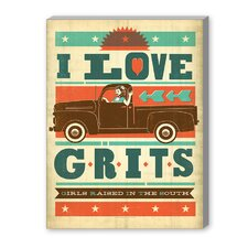 Grits Graphic Art on Canvas