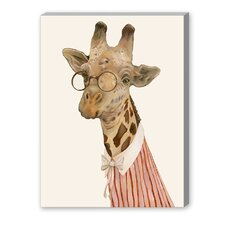 Giraffe Graphic Art on Canvas