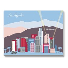 Los Angeles Graphic Art on Canvas