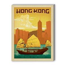 Hong Kong Vintage Advertisement on Canvas