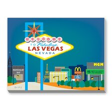 Las Vegas Graphic Art on Canvas