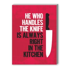 Handle the Knife Graphic Art on Canvas
